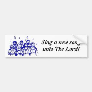 Choir members/singers bumper sticker
