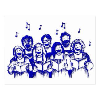 Choir members/singers postcard