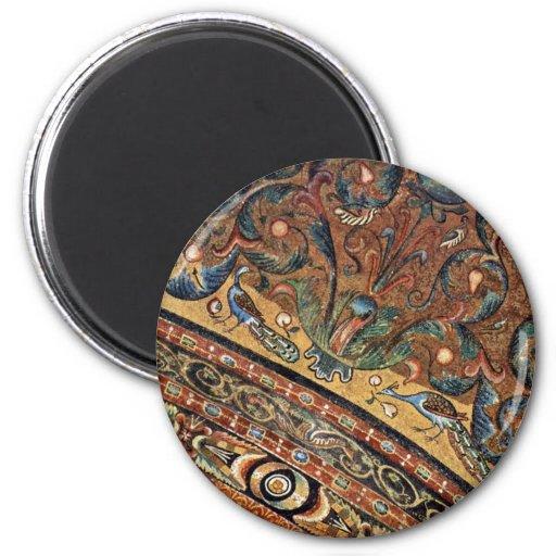 Choir Mosaics At San Vitale In Ravenna Vault Scene Fridge Magnets