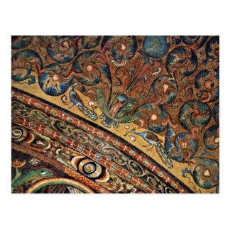 Choir Mosaics At San Vitale In Ravenna Vault Scene Postcard