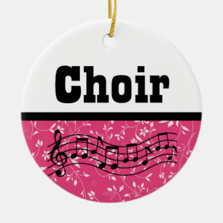 Choir Music Ceramic Ornament