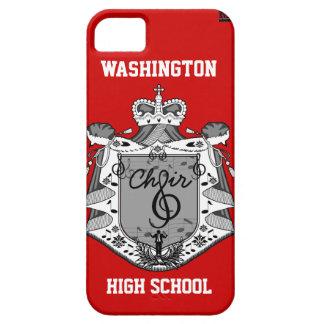 Choir Music Crest iPhone 5 Case-Mate Case Red