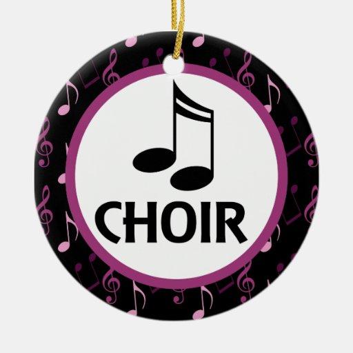 Choir Music Notes Ornament Gift