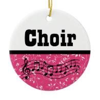 Choir Music Ornaments