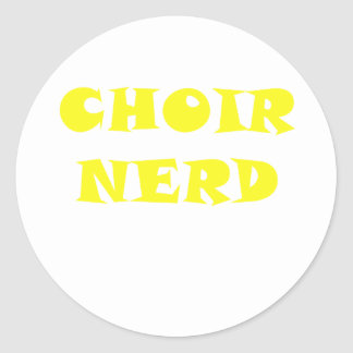 Choir Nerd Classic Round Sticker
