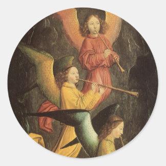 Choir of Angels by Simon Marmion, Renaissance Art Stickers