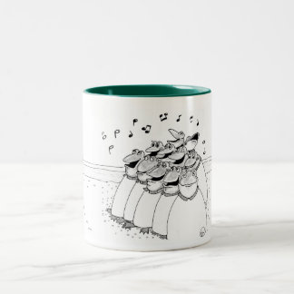 Choir of Frogs Two-Tone Coffee Mug