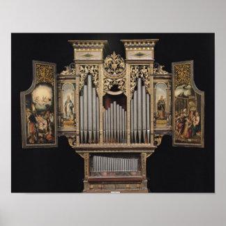 Choir organ with open panels poster