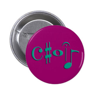 choir pinback button