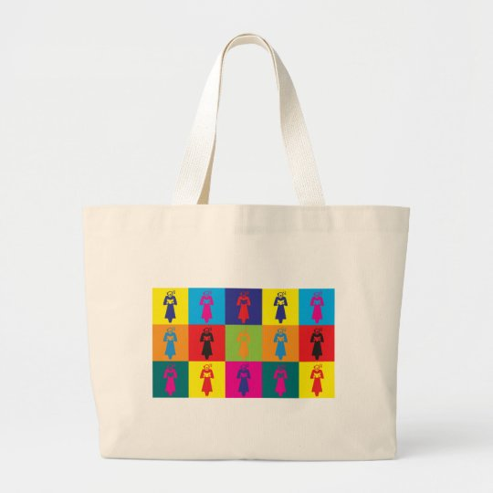 Choir Pop Art Large Tote Bag