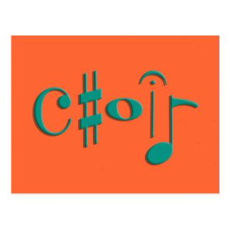 choir postcard