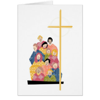 Choir Practice in Colorful Robes Greeting Card