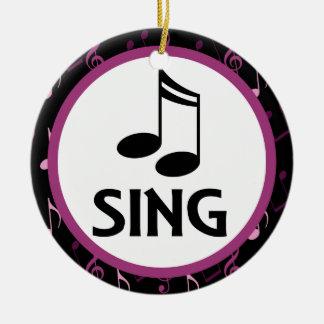 Choir Sing Music Christmas Keepsake Ornament