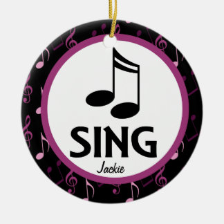 Choir Sing Personalized Music Christmas Ornament
