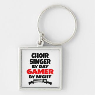 Choir Singer by Day Gamer by Night Keychain