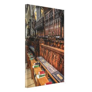 Choir Stalls in Salisbury Cathedral England Canvas Print