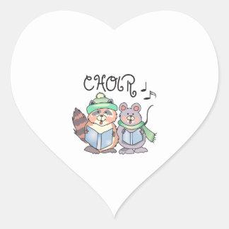 CHOIR HEART STICKER