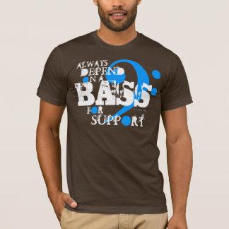 Choir T-Shirt Bass For Support 10 Blue