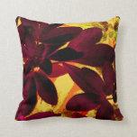 Choisya Autumn throw pillow square