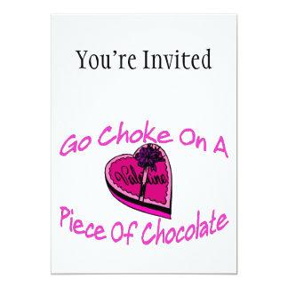 Choke On Chocolate Valentine Card