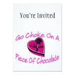 Choke On Chocolate Valentine 5x7 Paper Invitation Card
