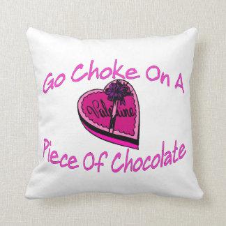 Choke On Chocolate Valentine Throw Pillows