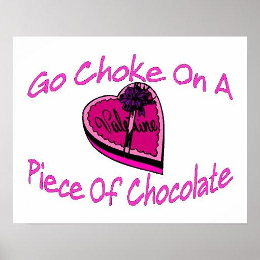 Choke On Chocolate Valentine Poster