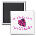 Choke On Chocolate Valentine Refrigerator Magnet
