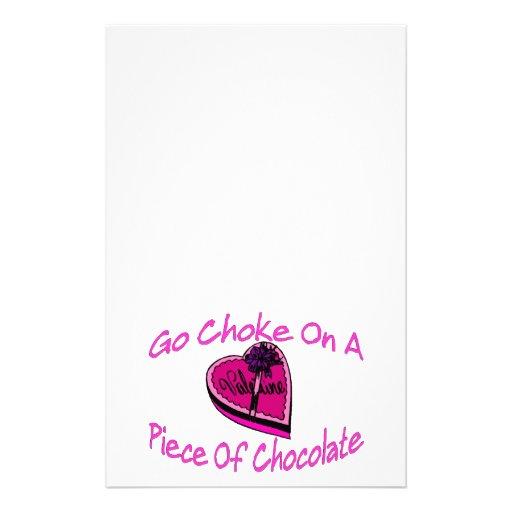 Choke On Chocolate Valentine Stationery