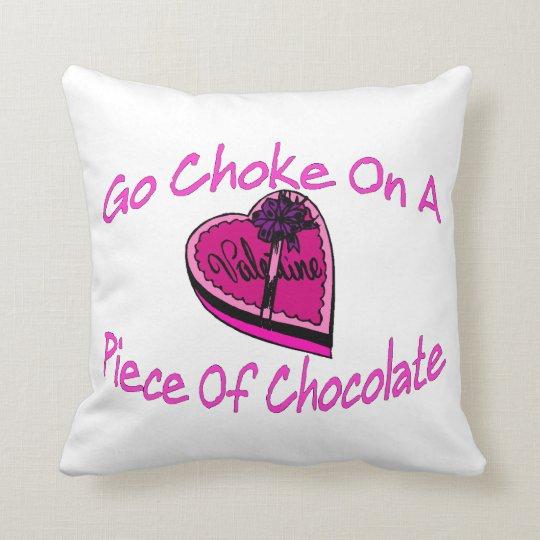 Choke On Chocolate Valentine Throw Pillow