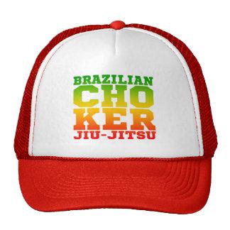 CHOKER - I Love Brazilian Jiu-Jitsu v09, Rasta Trucker Hat