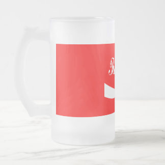 chokers1 16 oz frosted glass beer mug