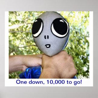 Choking an Alien - Posters