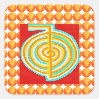 CHOKURAY : CHO KU RAY Reiki Healing Symbol Square Sticker