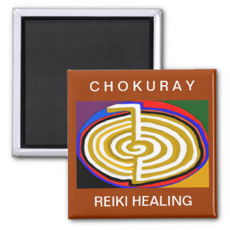 CHOKURAY REIKIHEALINGSYMBOL HEALING 2 INCH SQUARE MAGNET