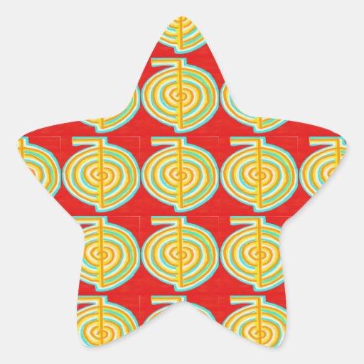 CHOKURAY: Símbolo curativo de Reiki del RAYO de Pegatina En Forma De Estrella
