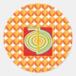 CHOKURAY: Símbolo curativo de Reiki del RAYO de Etiqueta Redonda