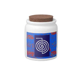 CHOKUREI  Reiki Basic Healing Symbol TEMPLATE gift Candy Dishes