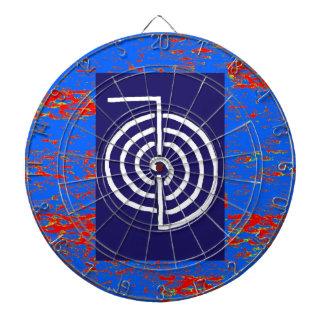 CHOKUREI  Reiki Basic Healing Symbol TEMPLATE gift Dartboard With Darts
