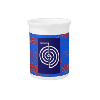 CHOKUREI Reiki Basic Healing Symbol TEMPLATE gift Pitcher