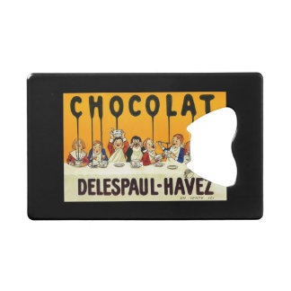 Cholat Delespaul Havez Children with Cocoa Syrup Credit Card Bottle Opener