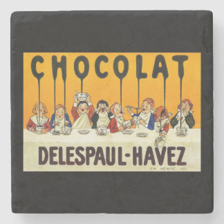 Cholat Delespaul Havez Children with Cocoa Syrup Stone Coaster