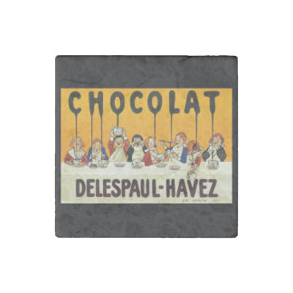Cholat Delespaul Havez Children with Cocoa Syrup Stone Magnet