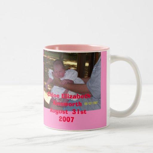 chole, Chloe Elizabeth AinsworthAugust  31st 2007 Two-Tone Coffee Mug
