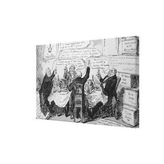 Cholera Consultation at Central Board of Canvas Print