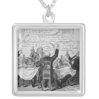 Cholera Consultation at Central Board of Square Pendant Necklace