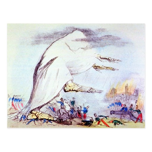Cholera Tramples the victors & the vanquished card Post Card