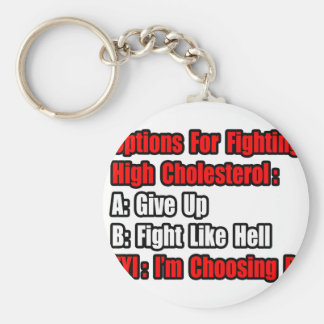 Cholesterol Fighting Options Keychain