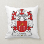 Cholewa Family Crest Throw Pillow