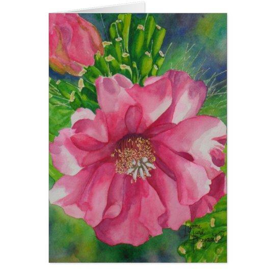 Cholla Blossom Card